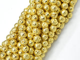 Lava-Gold Plated, 6mm (6.7mm) Round-BeadBeyond