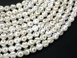 Tibetan Agate Beads, White, 8mm Faceted Round