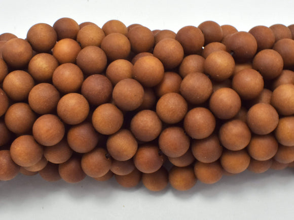 Matte Sandalwood Beads, 8mm Round Beads, 35 Inch-BeadBeyond