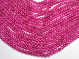 Jade Beads-Fuchsia, 6mm (6.3mm) Round Beads