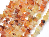 Carnelian Beads, 4-9mm Chips Beads, 34 Inch-BeadBeyond