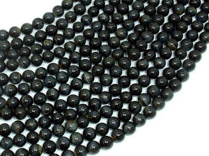 Blue Tiger Eye Beads, Round, 6mm-BeadBeyond