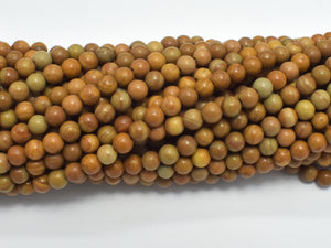 Wood Jasper Beads Round 4mm-BeadBeyond