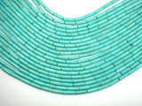 Turquoise Howlite, 4 x 13mm Tube Beads-BeadBeyond