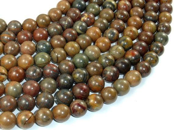 Wealth Stone Jasper Beads, 10mm (9.5mm) Round Beads-BeadBeyond
