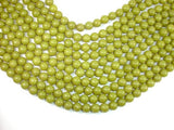 Olive Jade Beads, 10mm Round Beads-BeadBeyond
