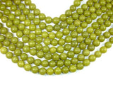 Olive Jade Beads, 12mm Round Beads-BeadBeyond