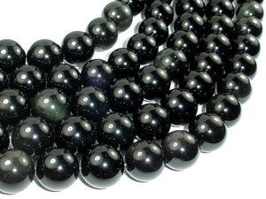 Rainbow Obsidian Beads, 16mm Round Beads-BeadBeyond