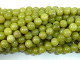 Olive Jade Beads, 8mm Round Beads-BeadBeyond
