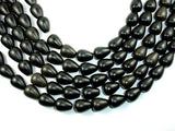 Matte Black Stone, Teardrop Beads-BeadBeyond