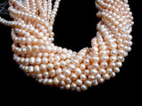 Fresh Water Pearl Beads, Peach, Potato 6.5-8mm-BeadBeyond