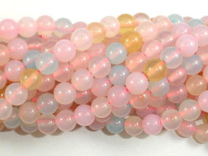 Agate Beads, 6mm(6.5mm) Round Beads-BeadBeyond