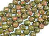 Unakite Beads, 10mm Round Beads-BeadBeyond