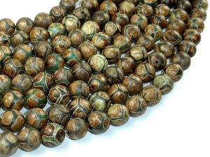 Tibetan Agate Beads, 10mm Round Beads-BeadBeyond