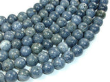 Blue Sponge Coral Beads, 10mm Round Beads-BeadBeyond