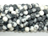 Matte Zebra Jasper Beads, 6mm Round Beads-BeadBeyond