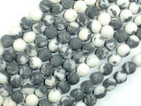 Matte Zebra Jasper Beads, 8mm, Round Beads-BeadBeyond