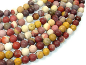Matte Mookaite Beads, 8mm Round Beads-BeadBeyond