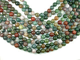 Indian Agate Beads, Fancy Jasper Beads, 12mm-BeadBeyond