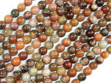 Orange River Jasper, 6mm Round Beads-BeadBeyond