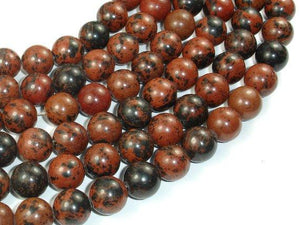 Mahogany Obsidian Beads, 12mm Round Beads-BeadBeyond