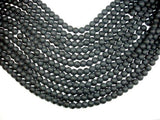 Matte Black Stone, 8mm Round Beads-BeadBeyond