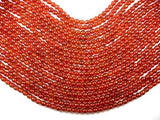 Carnelian Beads, 6mm Faceted Round Beads-BeadBeyond