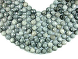 Hawk Eye, 14mm Faceted Round Beads-BeadBeyond