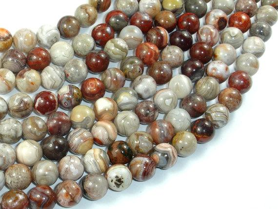 Mexican Crazy Lace Agate Beads, 8mm Round Beads-BeadBeyond