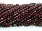 Red Garnet Beads, 3.5mm Round Beads-BeadBeyond