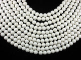 White Sponge Coral Beads, 9mm (9.3mm)-BeadBeyond