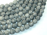 Matte Gray Picture Jasper Beads, 10mm Round Beads-BeadBeyond