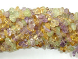 Mixed Quartz- Amethyst, Citrine, Prehnite, Pebble Chips Beads-BeadBeyond