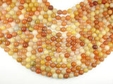 Old Yellow Jade Beads, 10mm(10.3mm), 16 Inch, Full strand