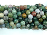 Indian Agate Beads, Fancy Jasper Beads, 8mm Round Beads-BeadBeyond