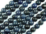 Dumortierite, 10mm Round Beads-BeadBeyond