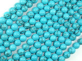 Howlite Turquoise Beads, 6mm Round Beads-BeadBeyond