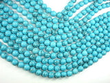 Howlite Turquoise Beads, 10mm Round Beads, 15.5 Inch, Full strand