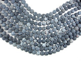 Frosted Matte Agate - Gray, 10mm Round Beads-BeadBeyond
