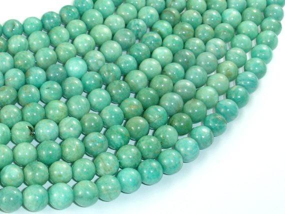 African Amazonite Beads, 7mm Round-BeadBeyond