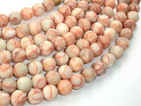 Matte Red Line Jasper, 8mm, Round Beads-BeadBeyond