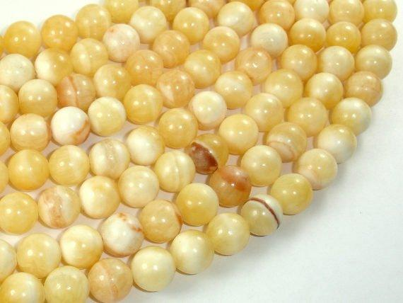 Honey Jade Beads, 10mm Round Beads-BeadBeyond