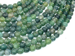 Matte Moss Agate Beads, 6mm Round Beads-BeadBeyond
