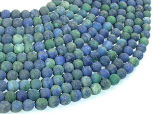 Matte Azurite Malachite Beads, Round, 6mm-BeadBeyond