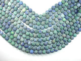 Matte Azurite Malachite Beads, 10mm Round Beads-BeadBeyond