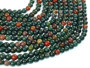 Indian Bloodstone Beads, 6mm Round Beads-BeadBeyond