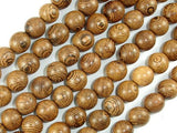 Wenge Wood Beads, 10mm Round Beads, 42 Inch-BeadBeyond