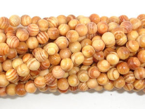 Indonesia Agathis Alba King Wood Beads, 6mm(6.3mm) Round, 23 Inch, Full strand