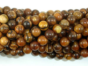 Vietnam Qinan Sandalwood Beads, 8mm(8.3mm) Round Beads, 32 Inch-BeadBeyond
