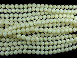 Bodhi Seed Beads, Ivory White, 8mm Round Beads, 33-34 Inch-BeadBeyond